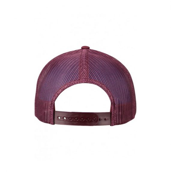 Gorra Glassy Curva Burdeos Back