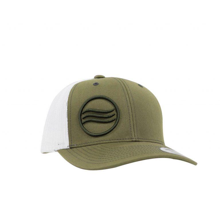 Gorra Glassy Retro Trucker verde-blanco